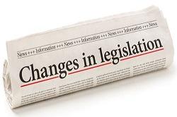 Changes in legislation